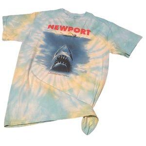 Tie dye JAWS graphic shirt medium
